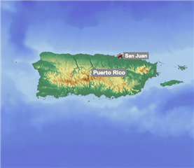Puerto Rico Country Map
